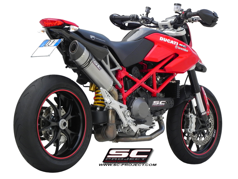 ducati hypermotard 1100 evo sp oval slip on exhaust by sc project. Black Bedroom Furniture Sets. Home Design Ideas