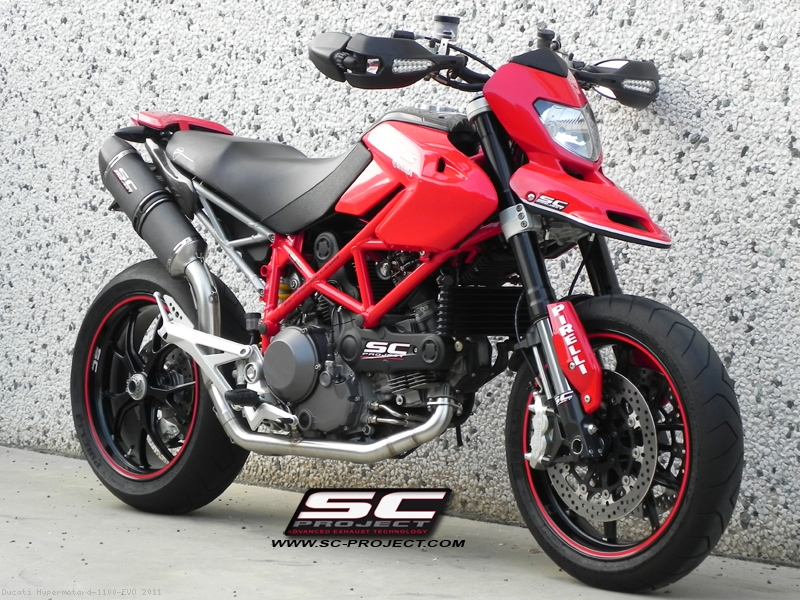 Oval 2-1 Full System Exhaust by SC-Project Ducati / Hypermotard 1100 ...
