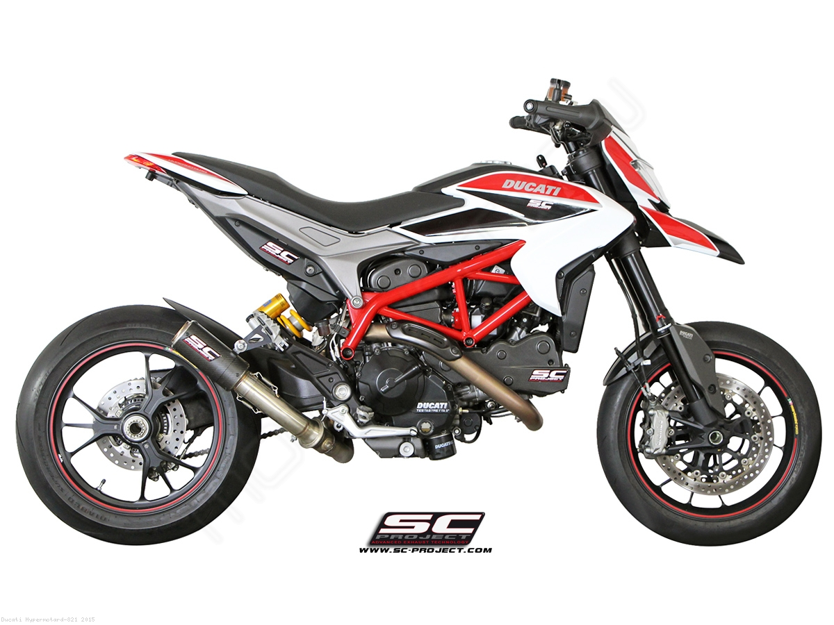 cr t exhaust by sc project ducati hypermotard 821 2015 d10 l38c. Black Bedroom Furniture Sets. Home Design Ideas