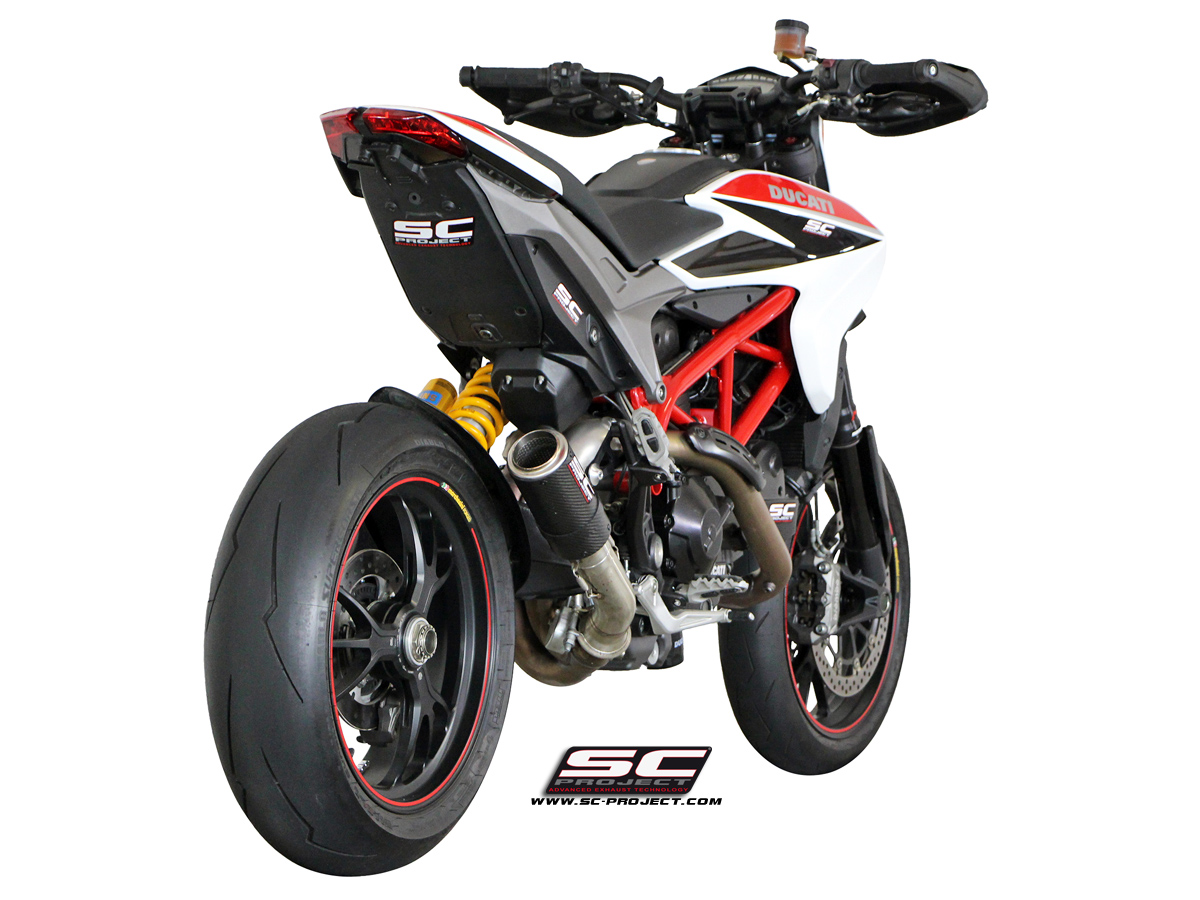 ducati hypermotard 821 slip on cr t exhaust by sc project. Black Bedroom Furniture Sets. Home Design Ideas