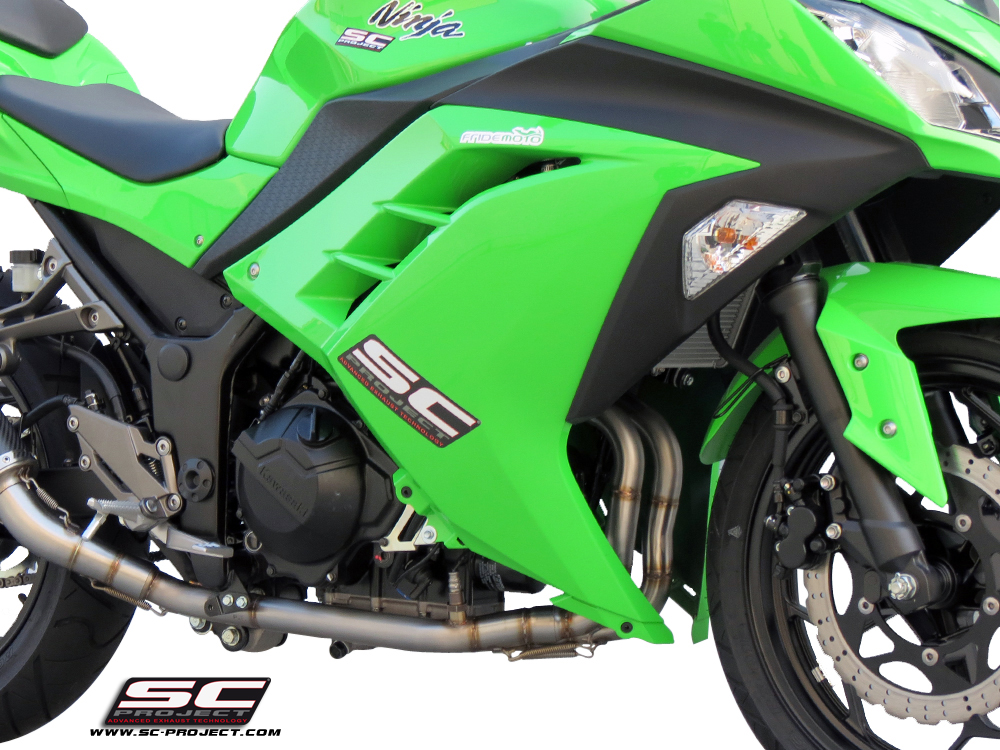 Kawasaki Ninja 300 Oval 2 into 1 Full System Exhaust by SC-Project
