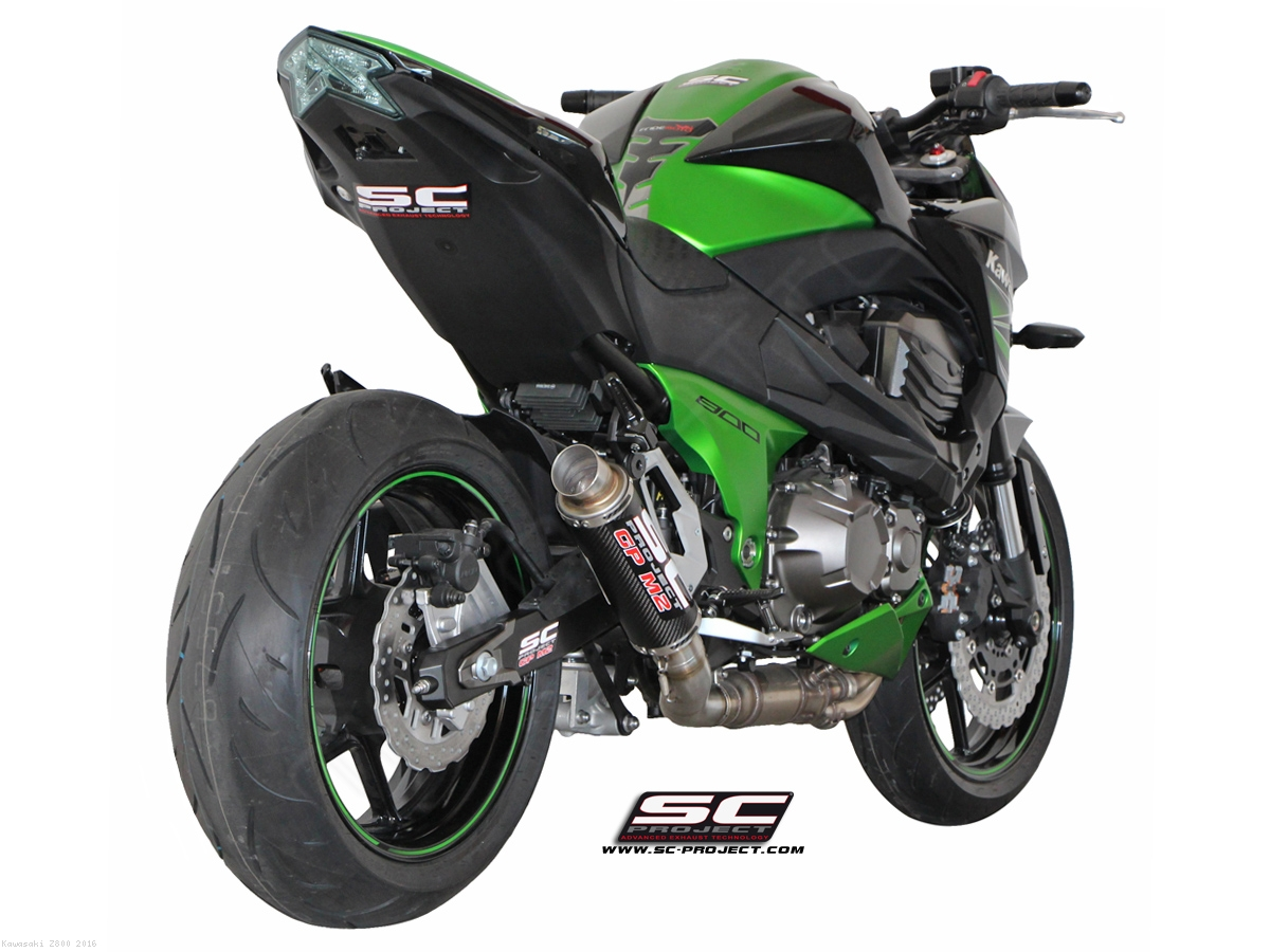gp m2 exhaust by sc project kawasaki z800 2016 k15 18c. Black Bedroom Furniture Sets. Home Design Ideas