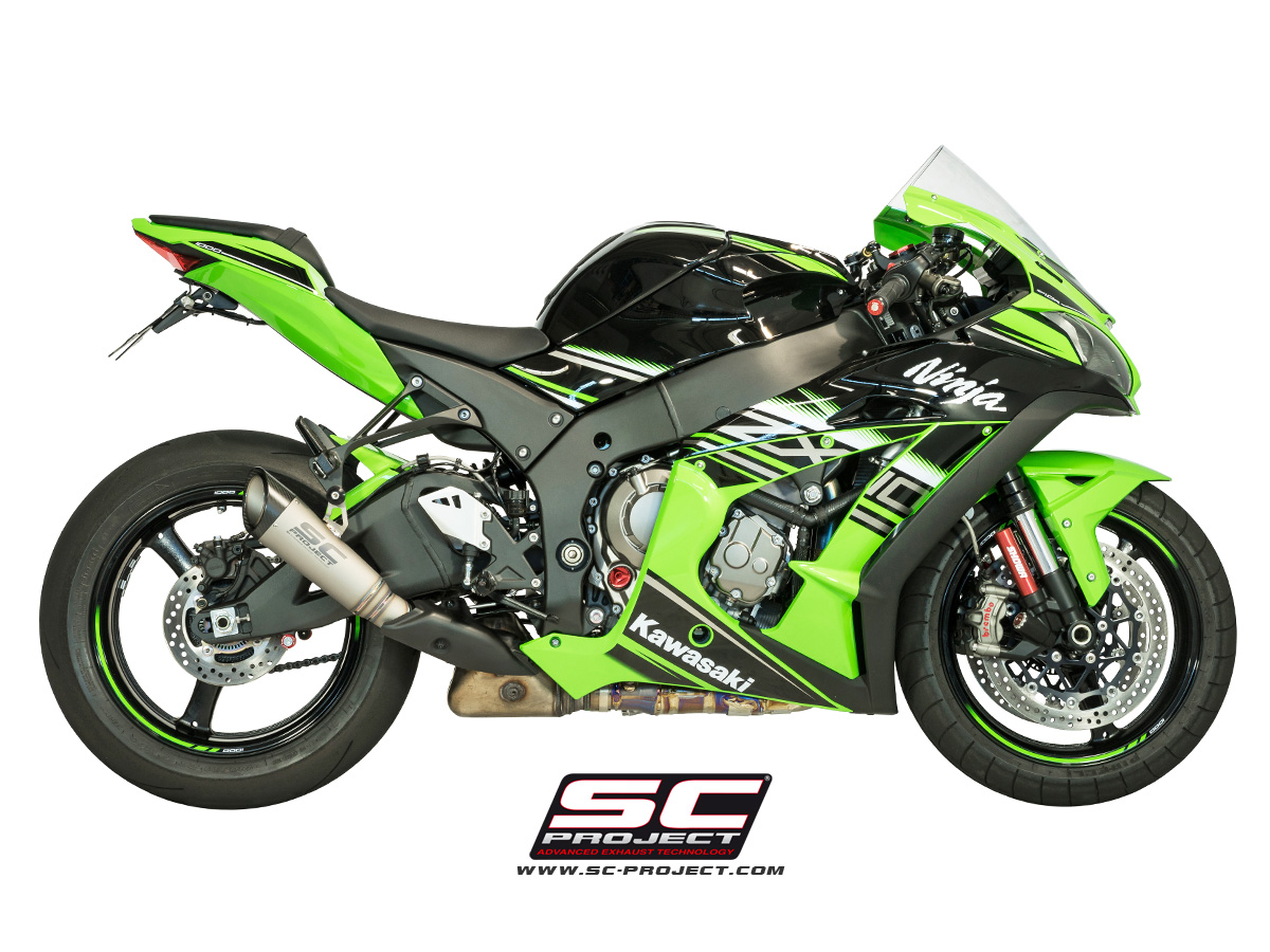 S1 Exhaust For Stock Cat By SC-Project K22-KT41T Kawasaki