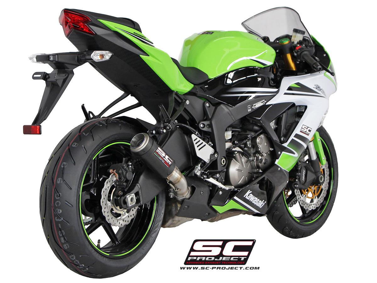 Kawasaki Ninja Zx6r 636 2013 Series Cr T Exhaust By Sc Project
