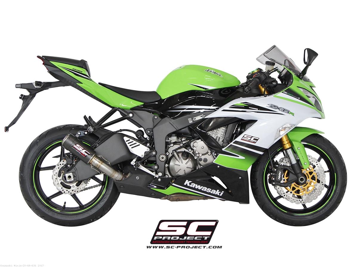 CR T Exhaust By SC Project Kawasaki Ninja ZX 6R 636