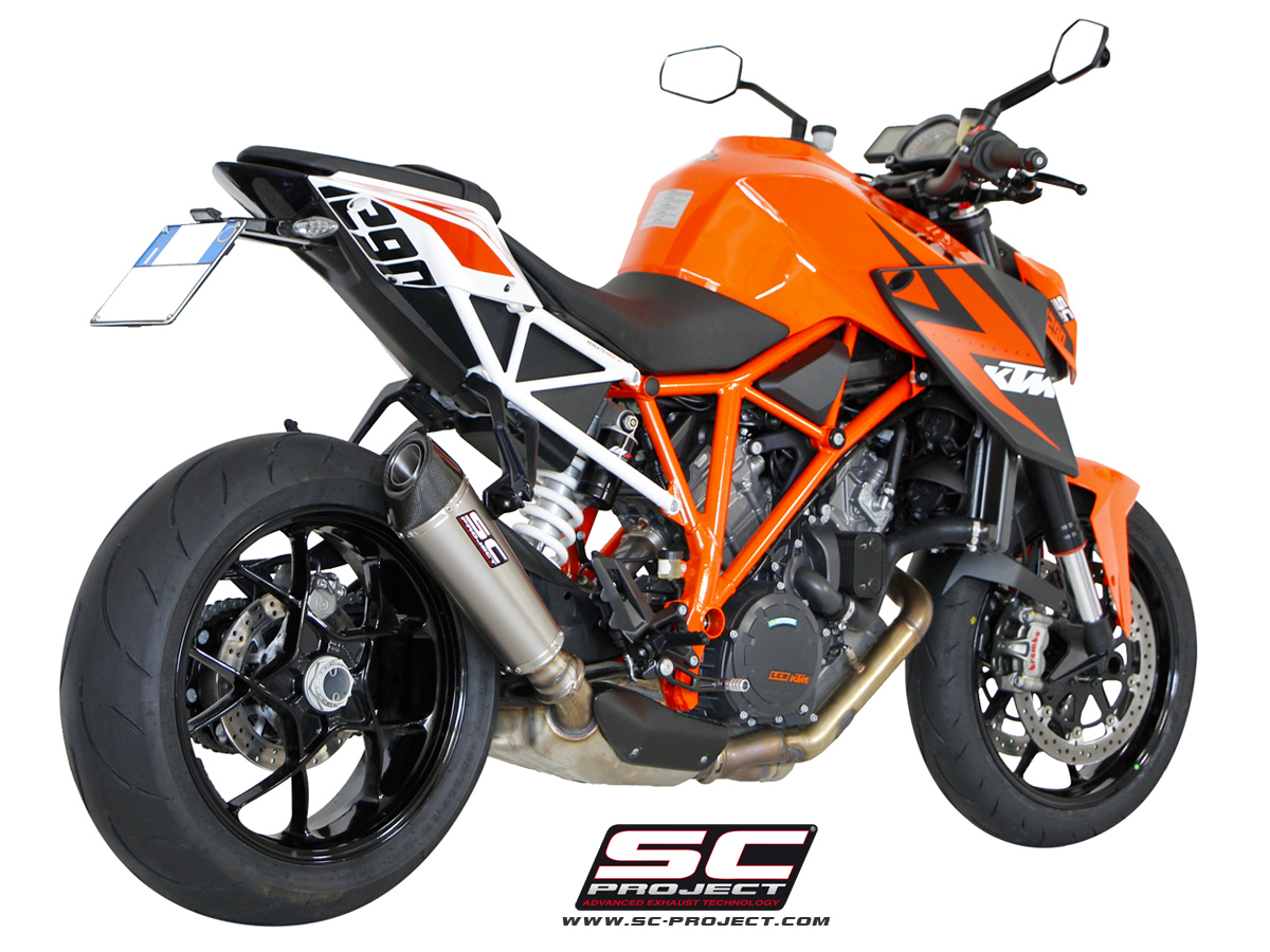 ktm 1290 super duke r conic exhaust for stock cat by sc. Black Bedroom Furniture Sets. Home Design Ideas