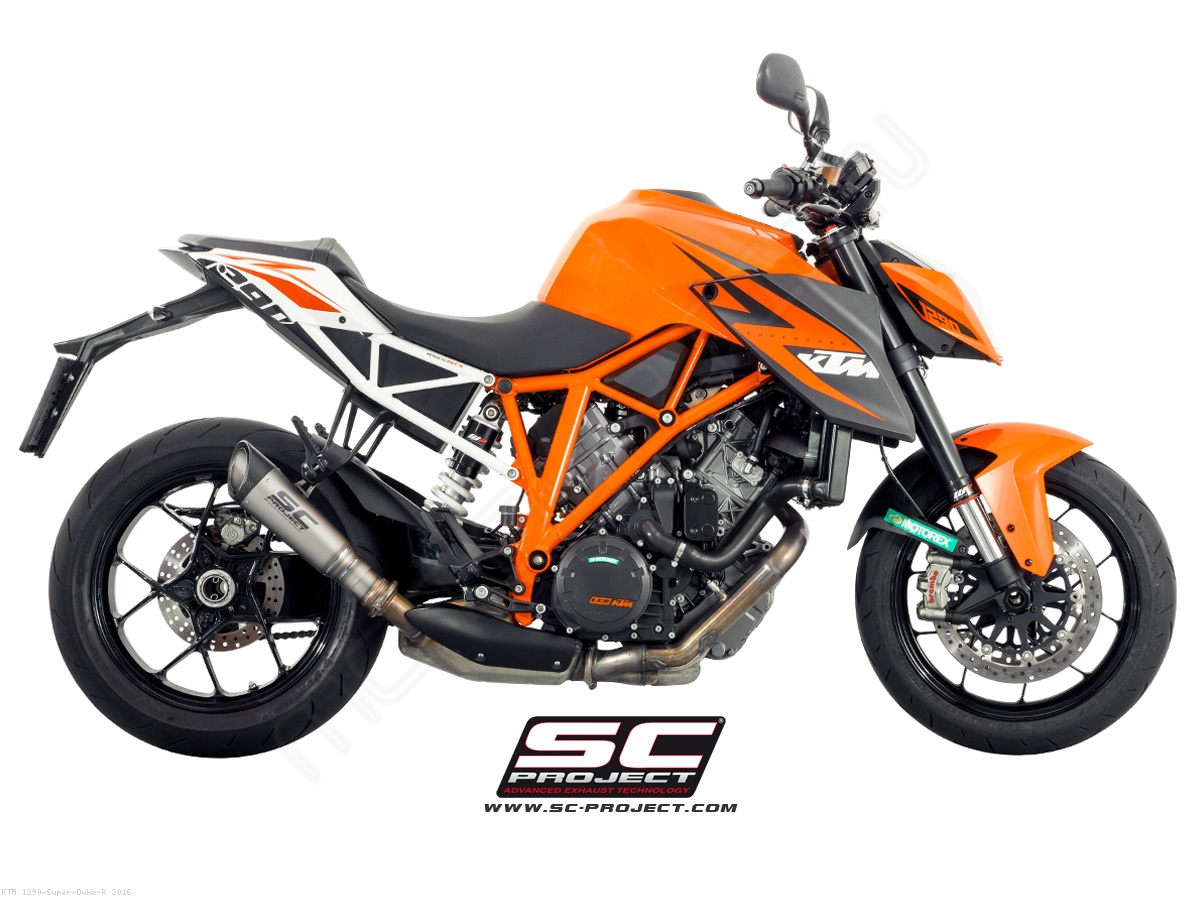 s1 exhaust by sc project ktm 1290 super duke r 2016. Black Bedroom Furniture Sets. Home Design Ideas