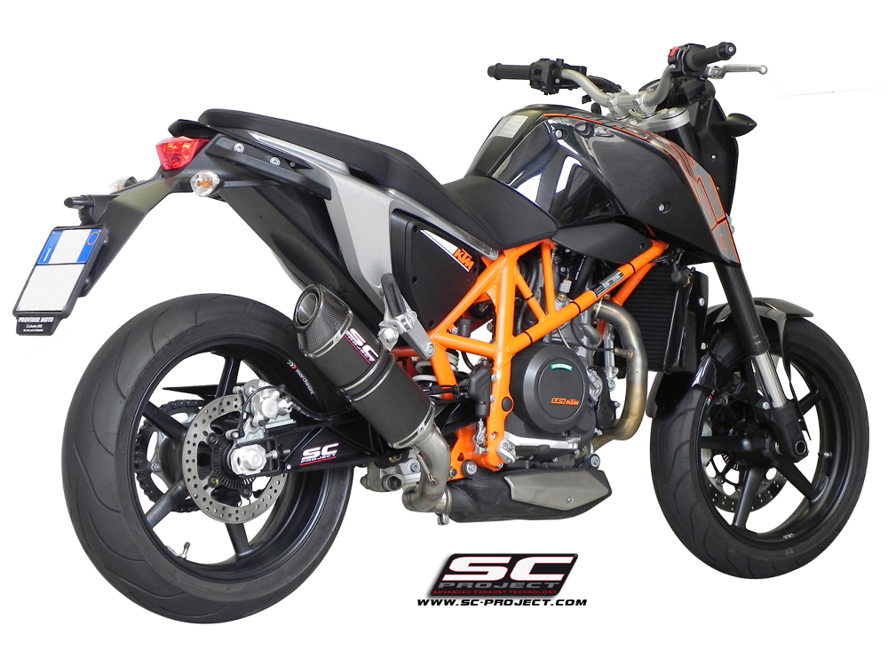 ktm 690 duke 2012 series oval exhaust by sc project. Black Bedroom Furniture Sets. Home Design Ideas
