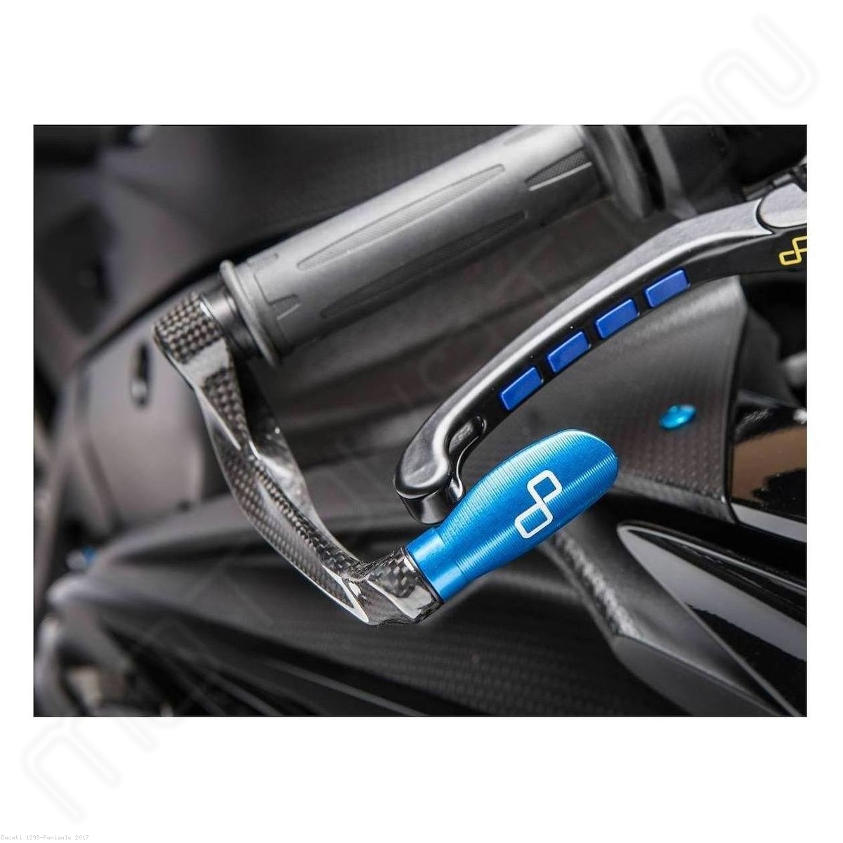 Carbon Fiber Brake Lever Guard With Adapter By Lightech Ducati