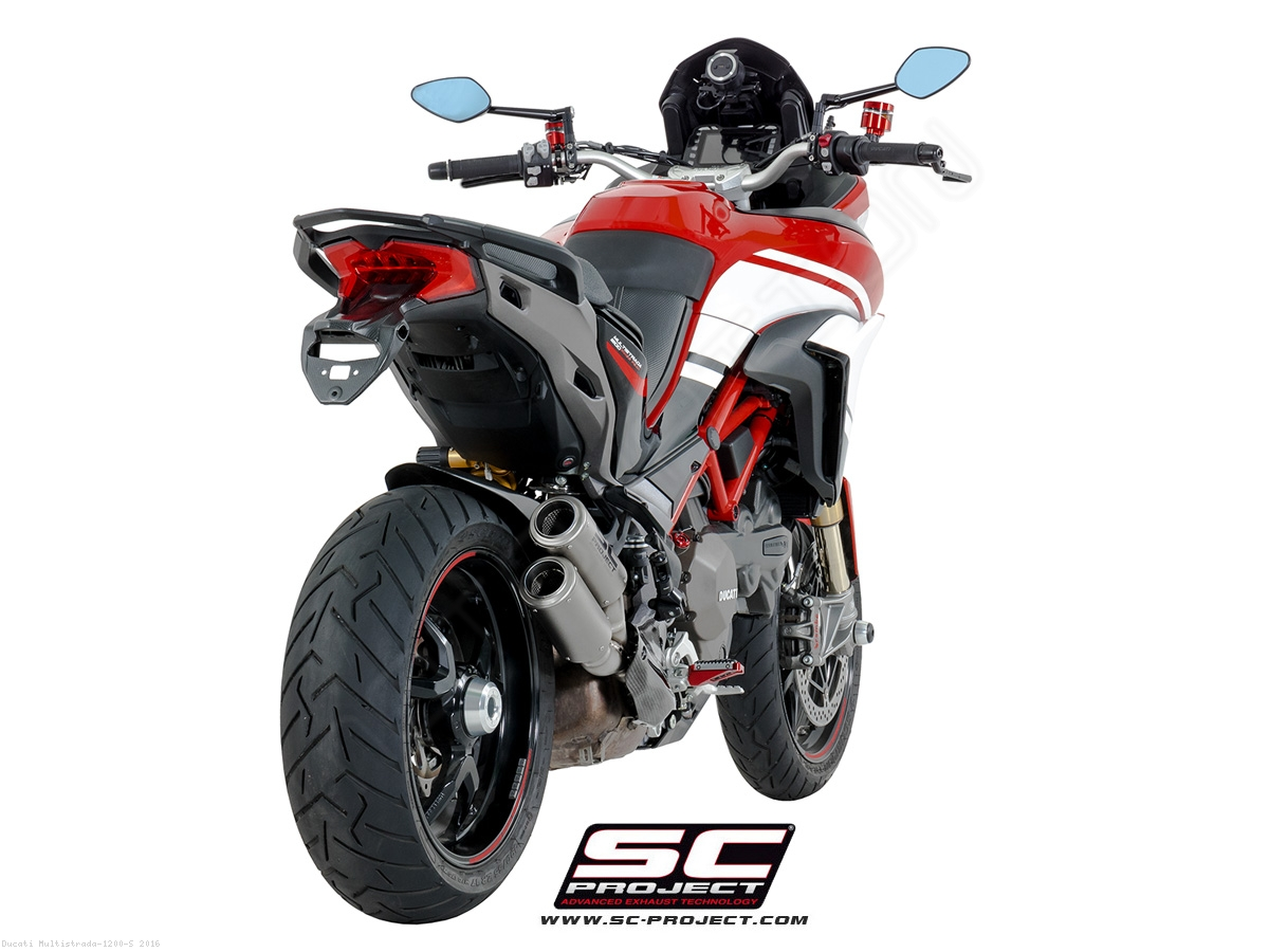 dual cr t exhaust by sc project ducati multistrada 1200 s 2016 d19 dt36t. Black Bedroom Furniture Sets. Home Design Ideas