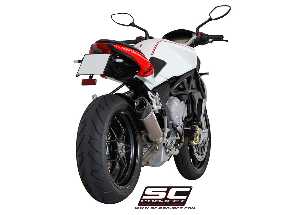 mv agusta brutale 675 800 dragster conic exhaust by sc. Black Bedroom Furniture Sets. Home Design Ideas