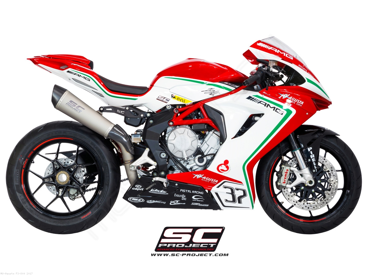 conic high mount exhaust by sc project mv agusta f3 800 2017