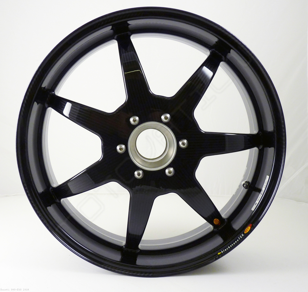 7 Spoke Carbon Fiber Wheel Set By Bst Ducati 848 Evo 2014