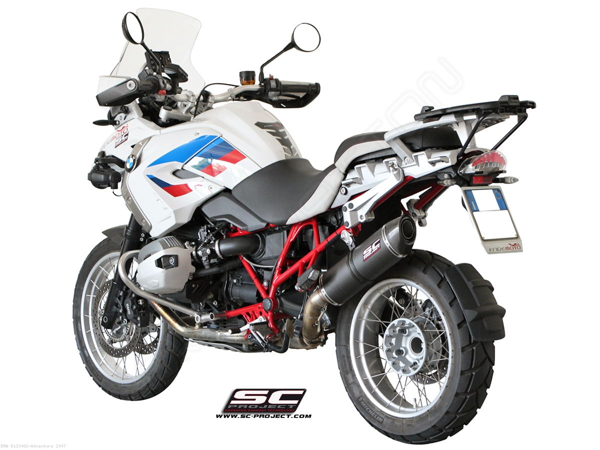 sc1 oval exhaust by sc project bmw r1200gs adventure 2007 b19 02. Black Bedroom Furniture Sets. Home Design Ideas