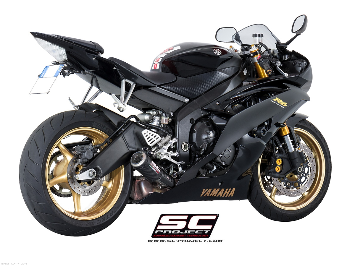 Low mount cr t exhaust by sc project yamaha yzf r6 for 2009 yamaha r6