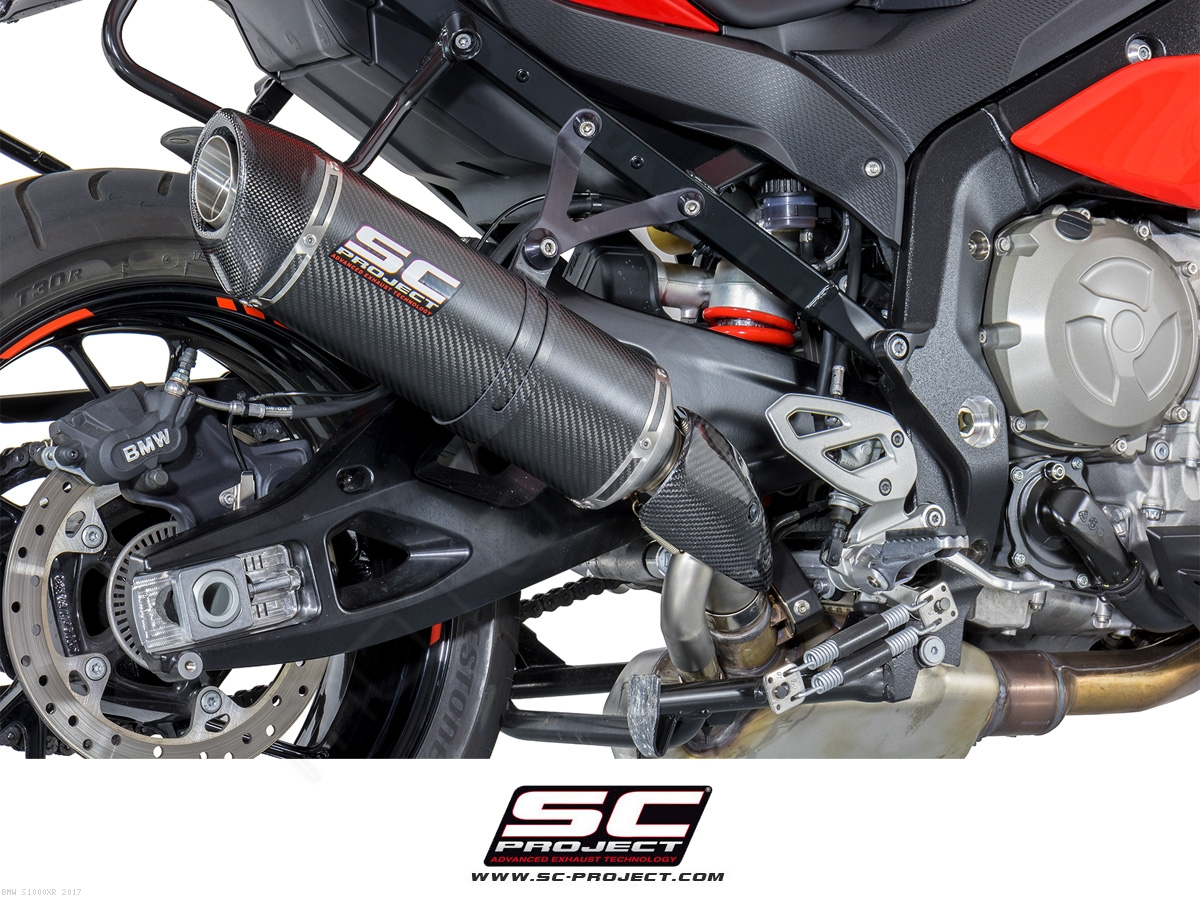 Oval High Mount Exhaust by SC-Project BMW / S1000XR / 2017 (B23-H01)