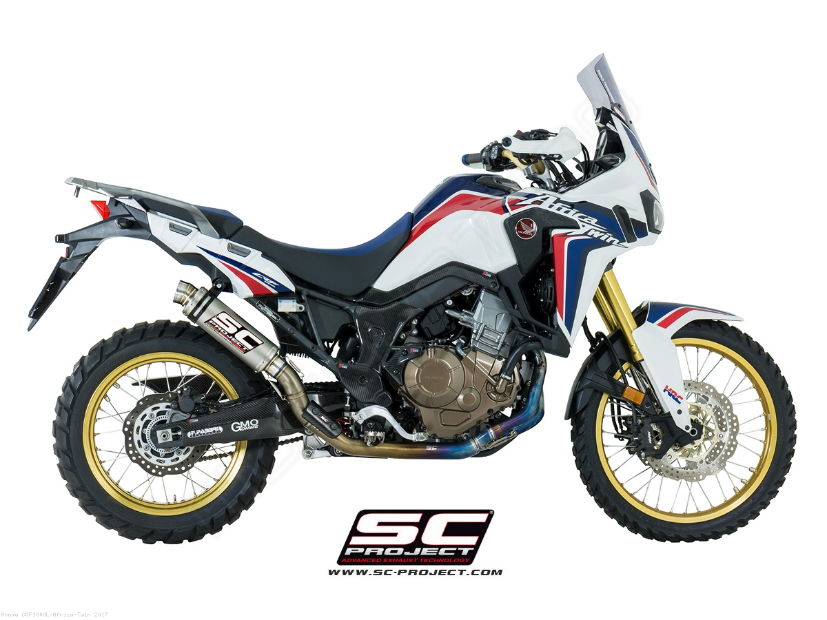 gp65 exhaust by sc project honda crf1000l africa twin 2017 h16 tc65t. Black Bedroom Furniture Sets. Home Design Ideas