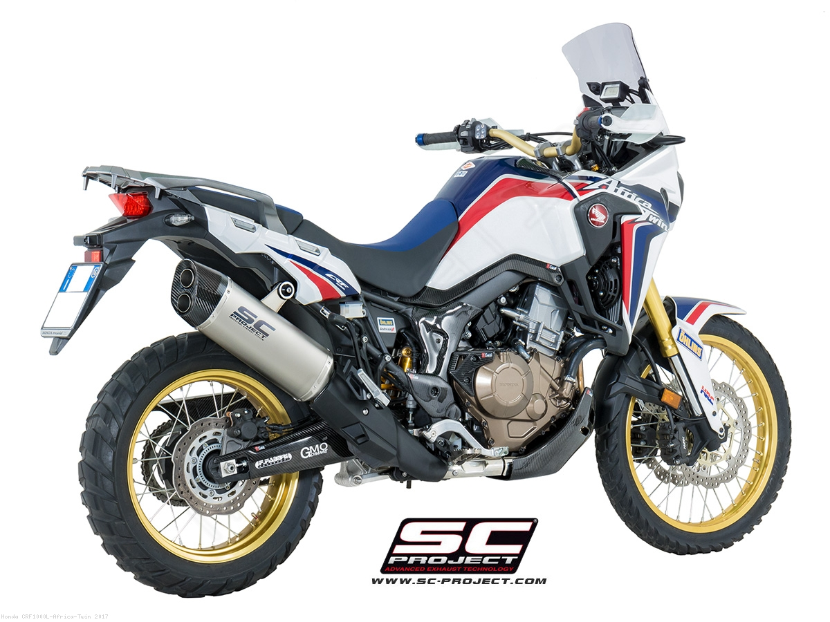 adventure exhaust by sc project honda crf1000l africa. Black Bedroom Furniture Sets. Home Design Ideas