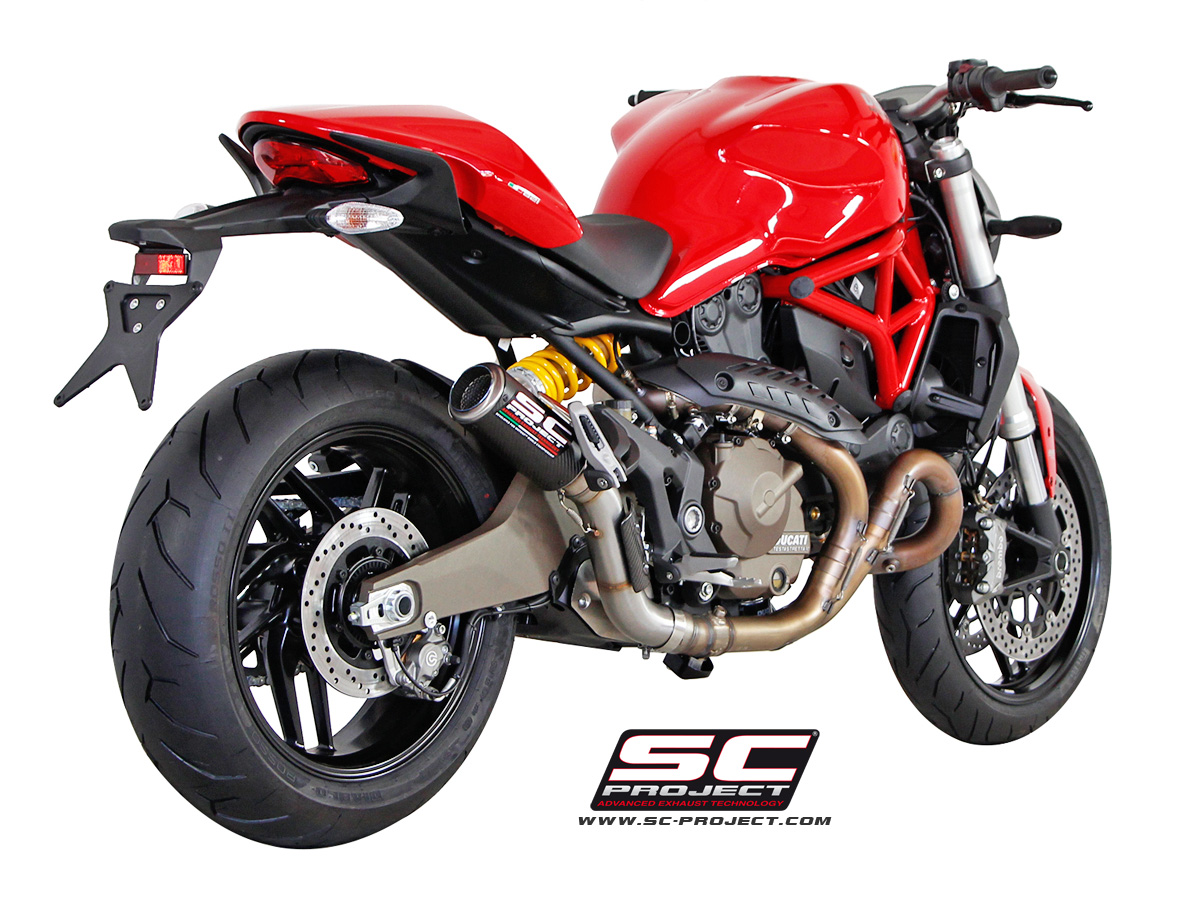 ducati monster 821 cr t slip on exhaust by sc project. Black Bedroom Furniture Sets. Home Design Ideas
