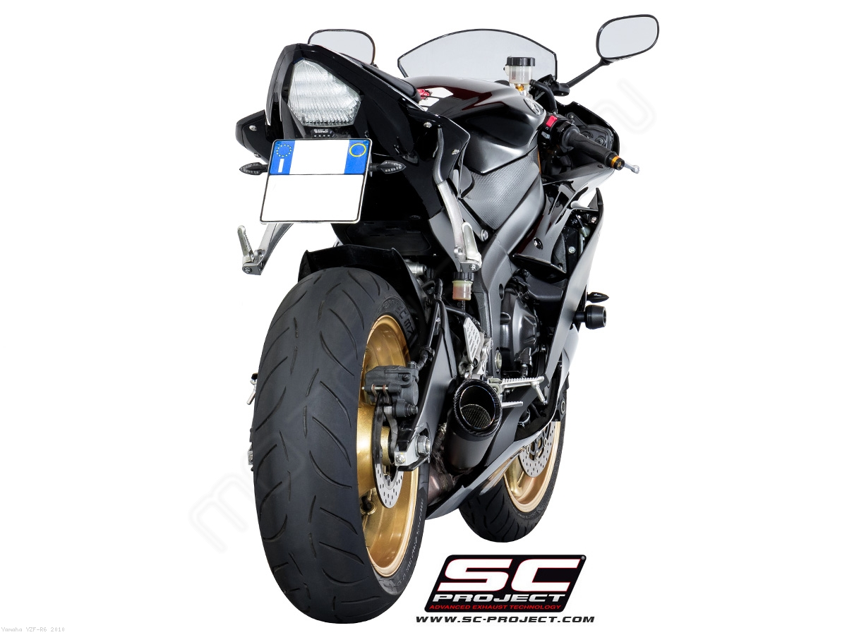 s1 low mount exhaust by sc project yamaha yzf r6 2010. Black Bedroom Furniture Sets. Home Design Ideas