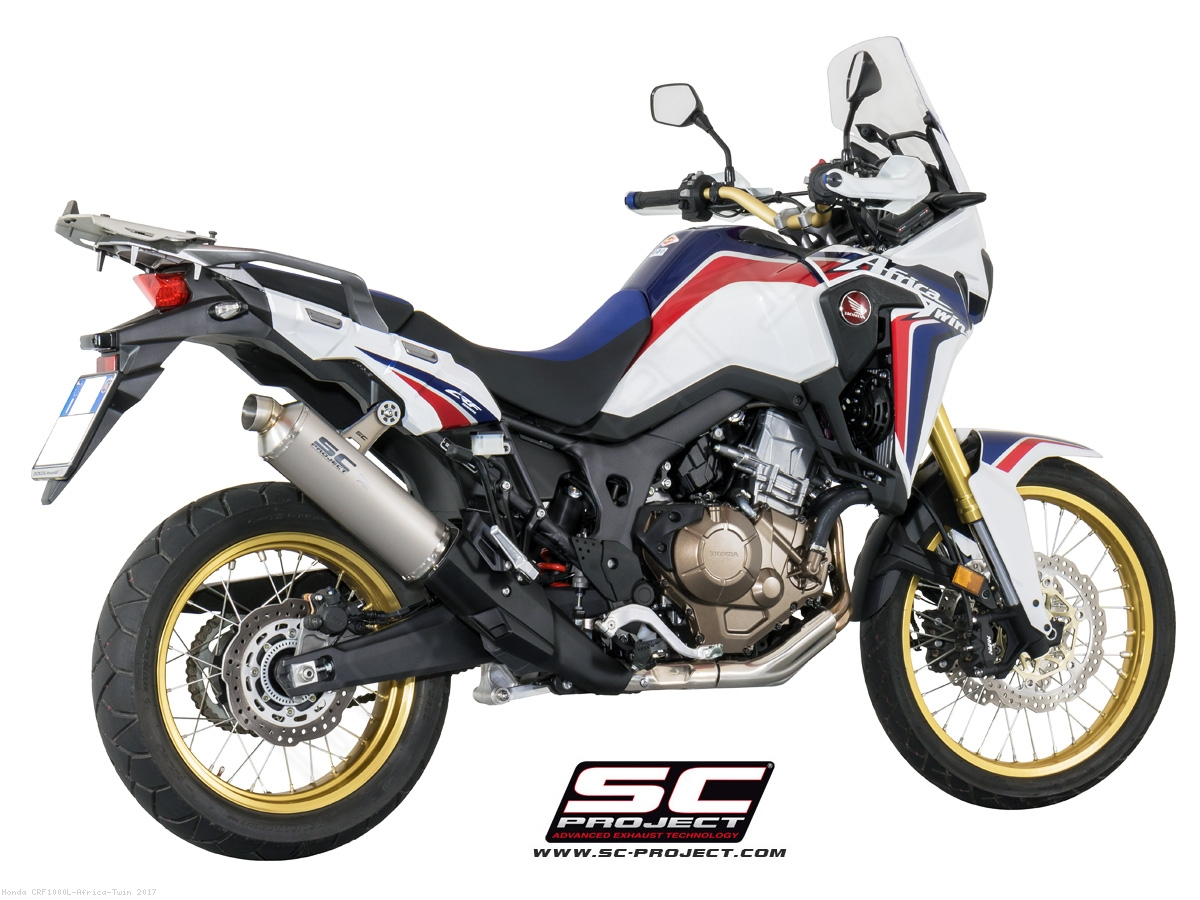 r60 exhaust by sc project honda crf1000l africa twin. Black Bedroom Furniture Sets. Home Design Ideas
