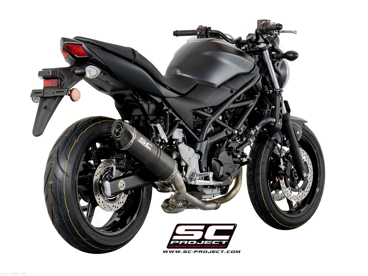 oval exhaust by sc project suzuki sv650 2016 s14 01. Black Bedroom Furniture Sets. Home Design Ideas