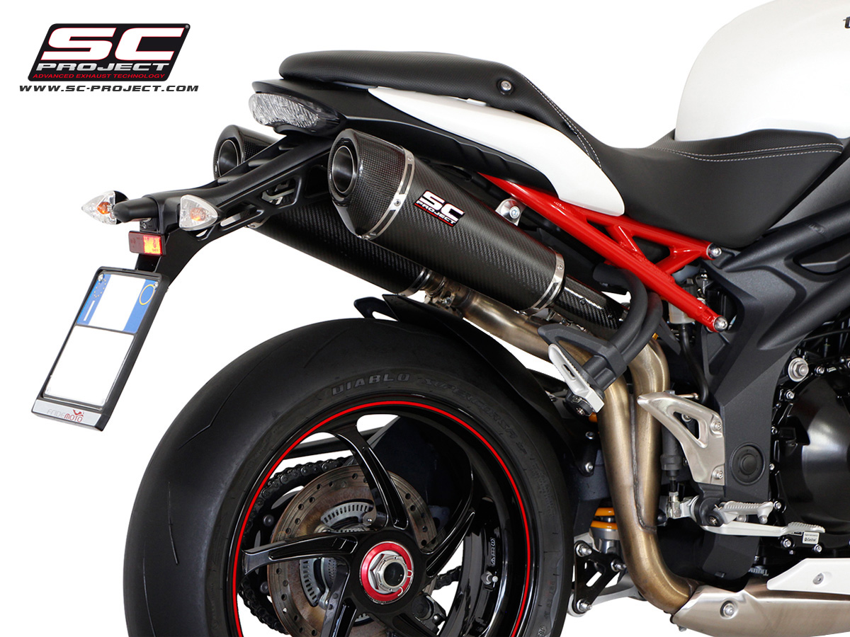 triumph speed triple 1050 2011 carbon conical dual high mount exhaust by sc project. Black Bedroom Furniture Sets. Home Design Ideas