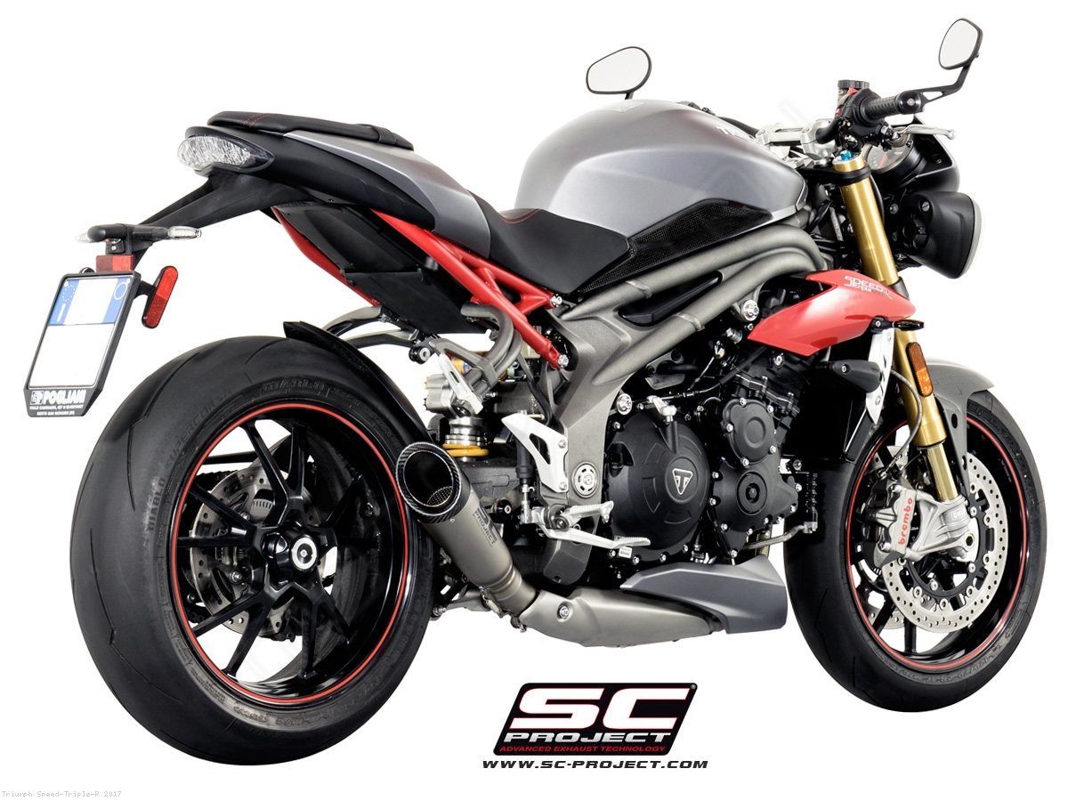 s1 exhaust by sc project triumph speed triple r 2017 t16 lt41t. Black Bedroom Furniture Sets. Home Design Ideas