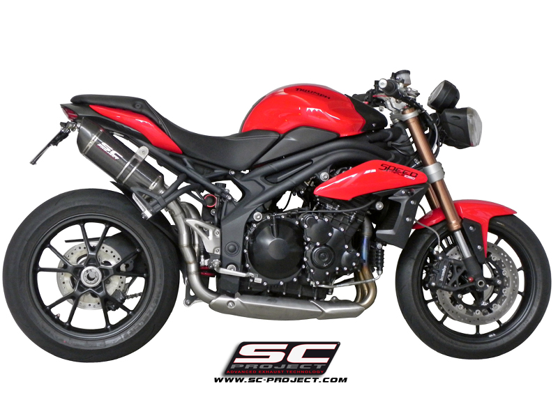Triumph Speed Triple 2011 Oval Dual Exhaust By Sc Project