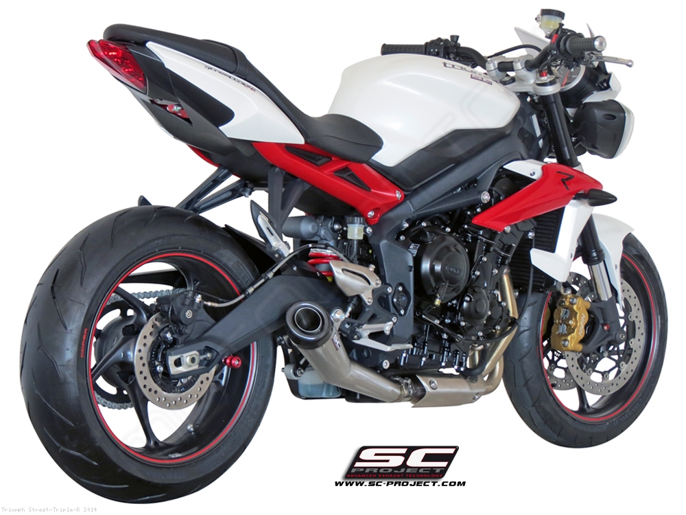 conic exhaust by sc project triumph street triple r 2014 t13 21a. Black Bedroom Furniture Sets. Home Design Ideas