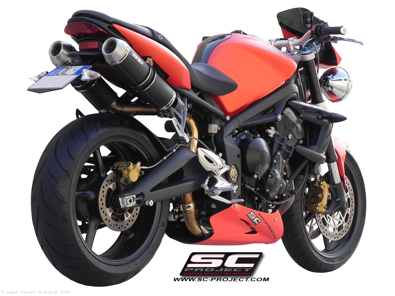 Gp Evo High Mount Exhaust By Sc Project Triumph Street Triple R