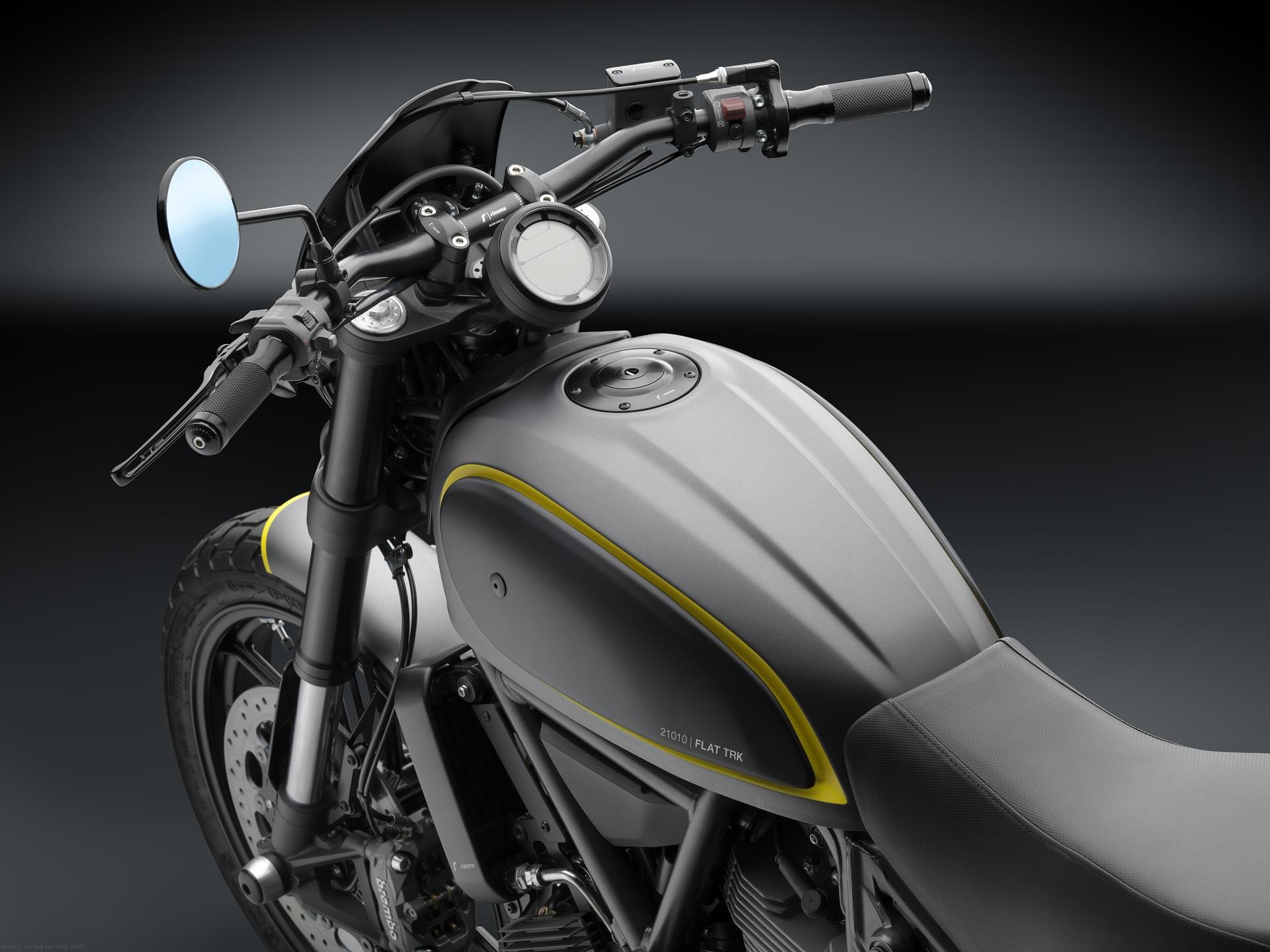 Rizoma Billet Aluminum Cafe Racer Gas Cap Tf142 Ducati Scrambler
