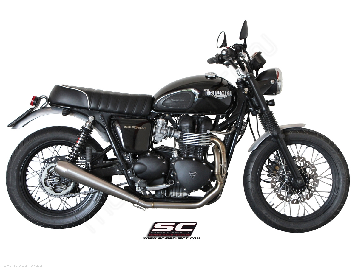 Conic Full System Exhaust by SC-Project Triumph / Bonneville T100 ...