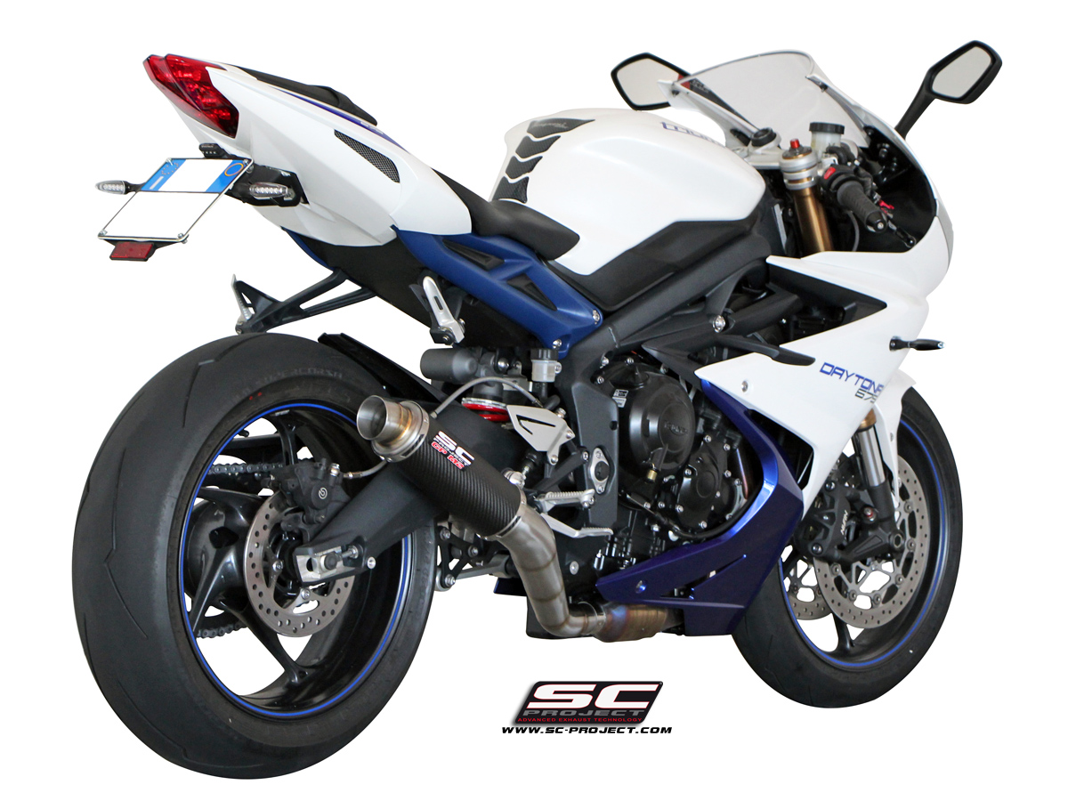 triumph daytona 675 2013 series gp m2 slip on exhaust by sc project. Black Bedroom Furniture Sets. Home Design Ideas