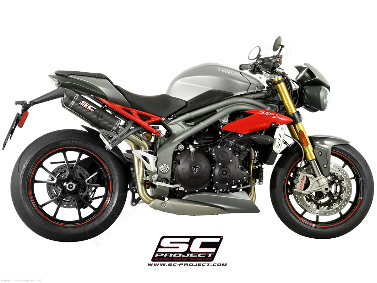 gp tech exhaust by sc project triumph speed triple r 2017 t16 28c. Black Bedroom Furniture Sets. Home Design Ideas