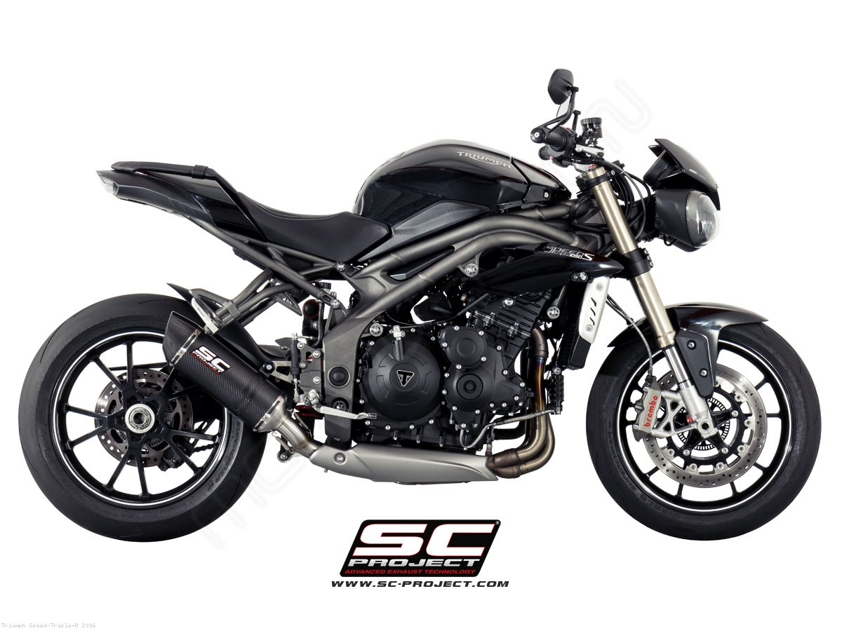 oval low mount exhaust by sc project triumph speed triple r 2016 t16 l12. Black Bedroom Furniture Sets. Home Design Ideas