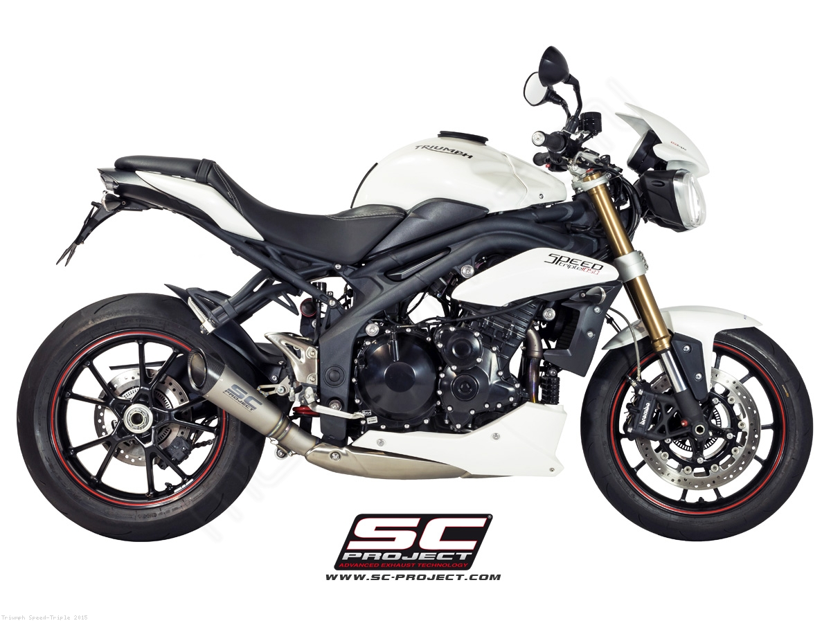 s1 exhaust by sc project triumph speed triple 2015 t05 lt41t. Black Bedroom Furniture Sets. Home Design Ideas