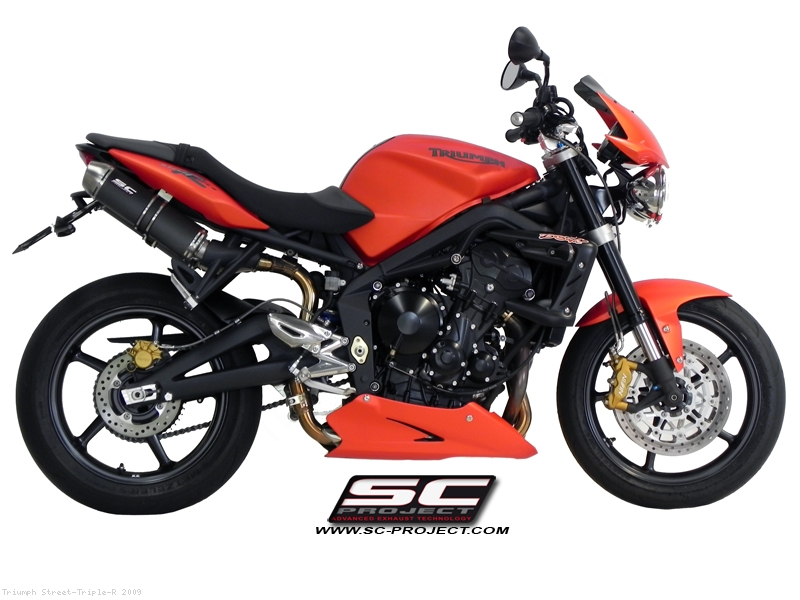 gp evo high mount exhaust by sc project triumph street triple r 2009 t02 14. Black Bedroom Furniture Sets. Home Design Ideas