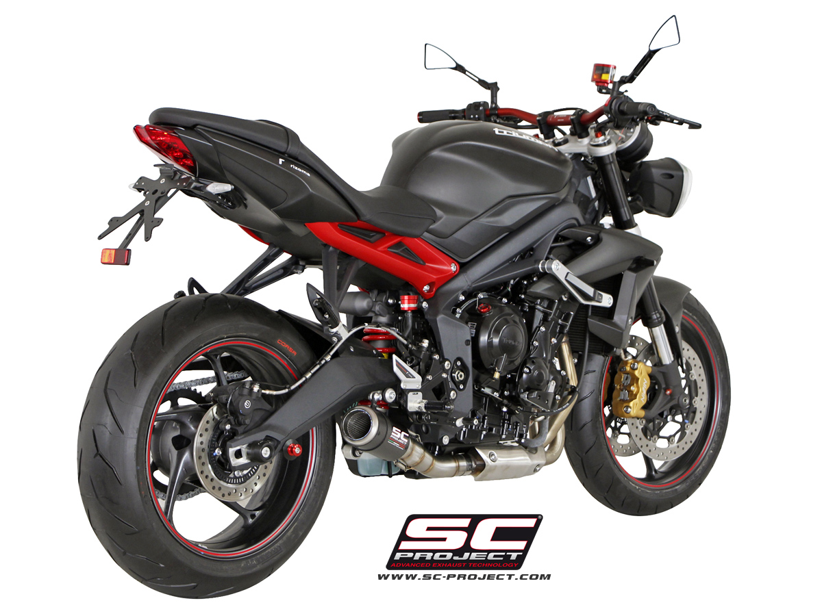 triumph street triple 2013 series cr t exhaust by sc project. Black Bedroom Furniture Sets. Home Design Ideas