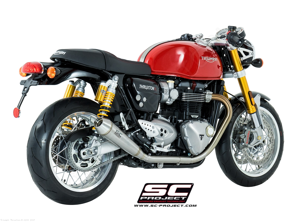 dual conic exhaust by sc project triumph thruxton r 1200 2017 t11 d37a. Black Bedroom Furniture Sets. Home Design Ideas