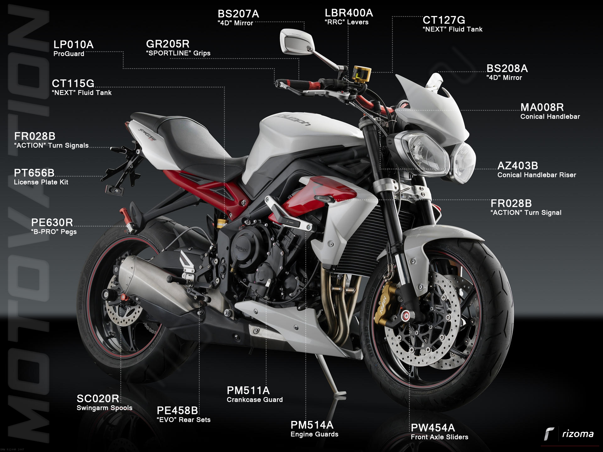triumphstreettriple%20diagram_3-m_m_y-BMW-R1200R-2007 Extraordinary Bmw R 1200 R Street Fighter Cars Trend