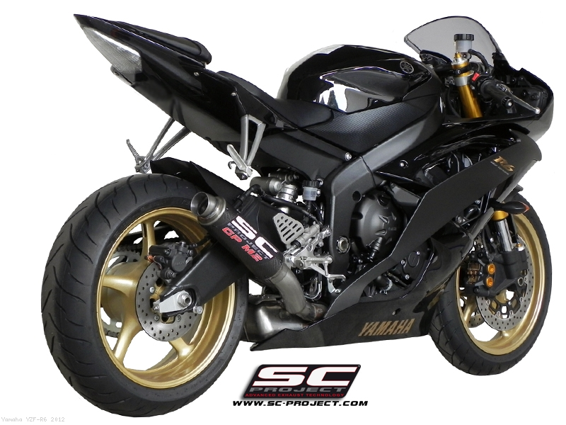 gp m2 high mount exhaust by sc project yamaha yzf r6