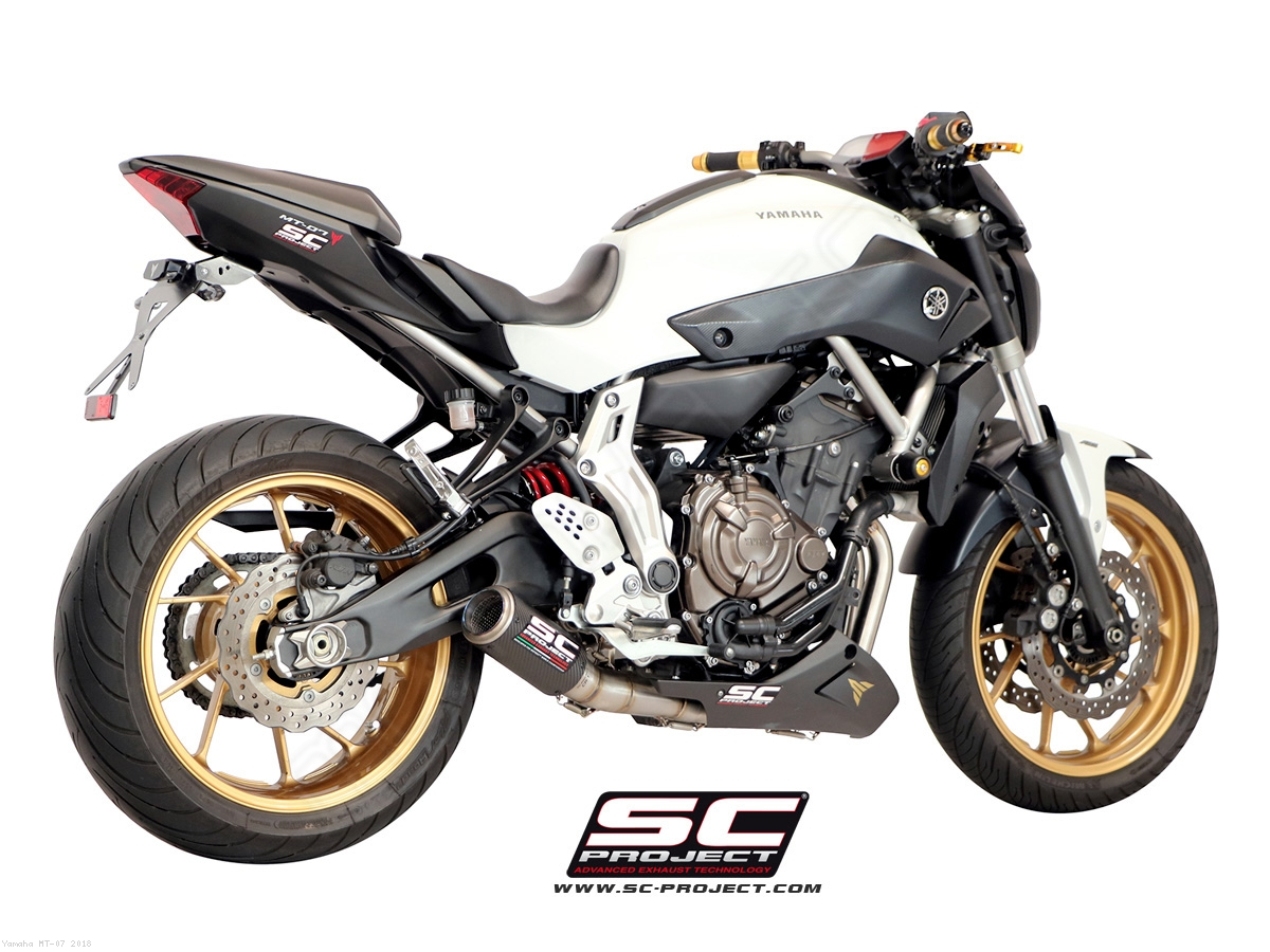 CR T Full System Exhaust By SC Project Yamaha MT 07