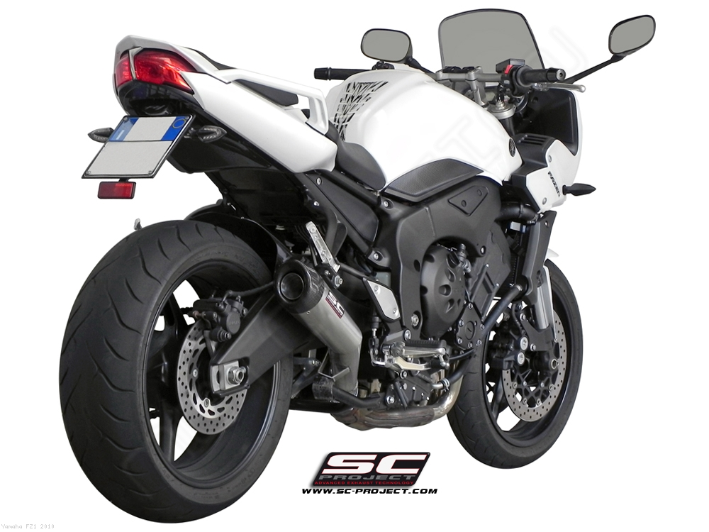 conic exhaust by sc project yamaha fz1 2010 y03 21a. Black Bedroom Furniture Sets. Home Design Ideas