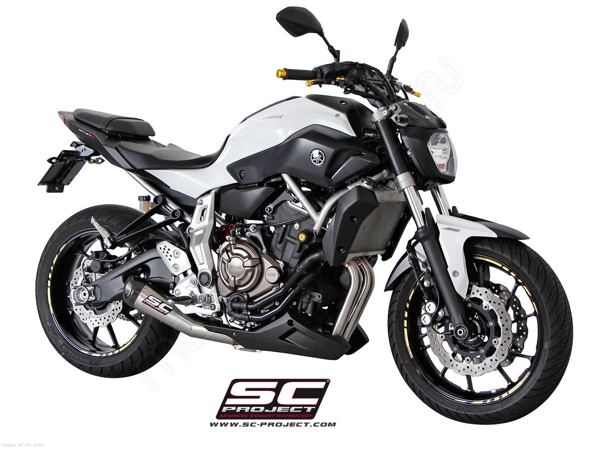 conic full system exhaust by sc project yamaha mt 07. Black Bedroom Furniture Sets. Home Design Ideas