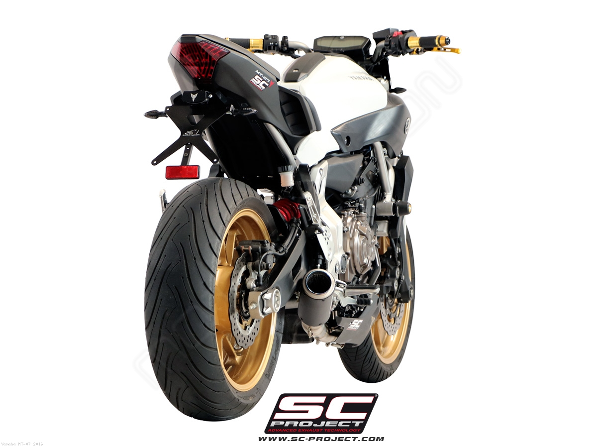 cr t exhaust by sc project yamaha mt 07 2016 y14 c38. Black Bedroom Furniture Sets. Home Design Ideas