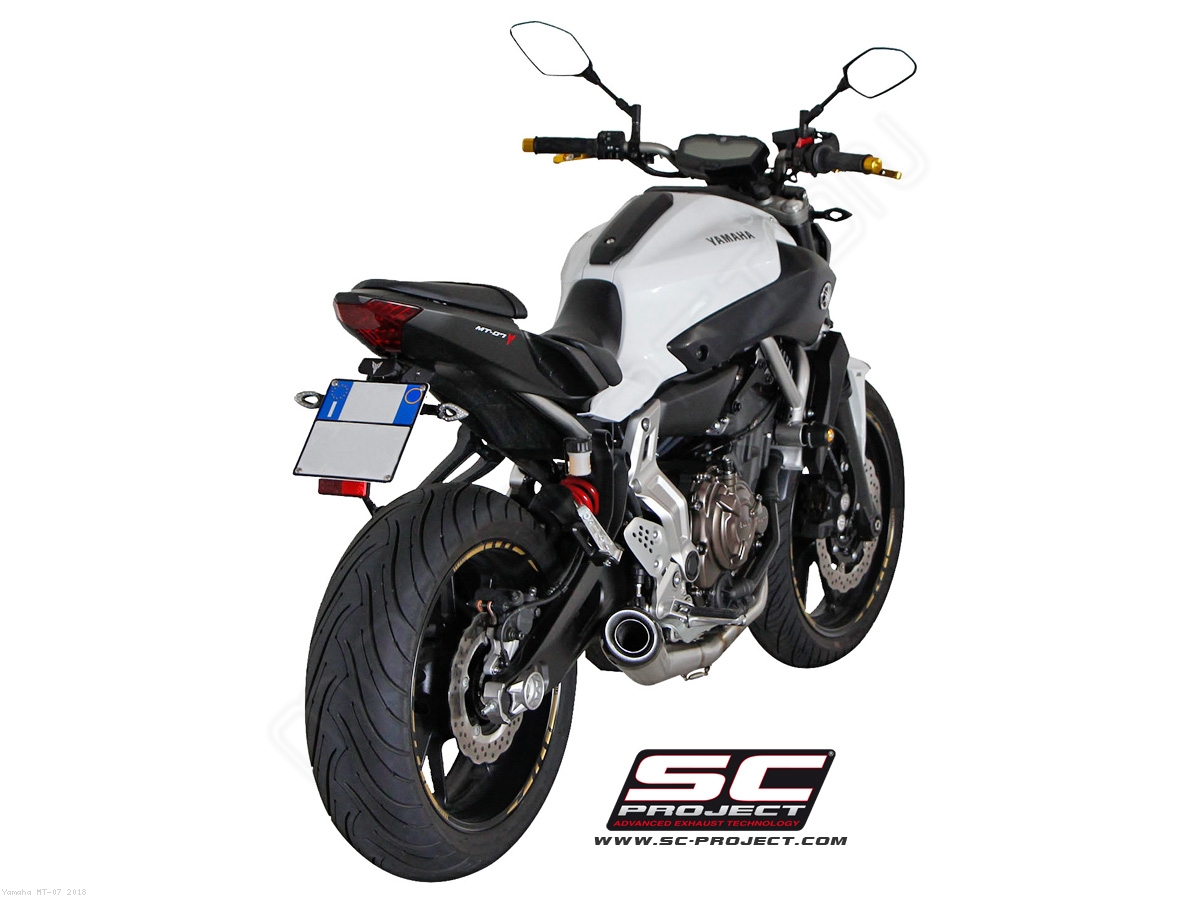 conic full system exhaust by sc project yamaha mt 07 2018 y14 c21a. Black Bedroom Furniture Sets. Home Design Ideas