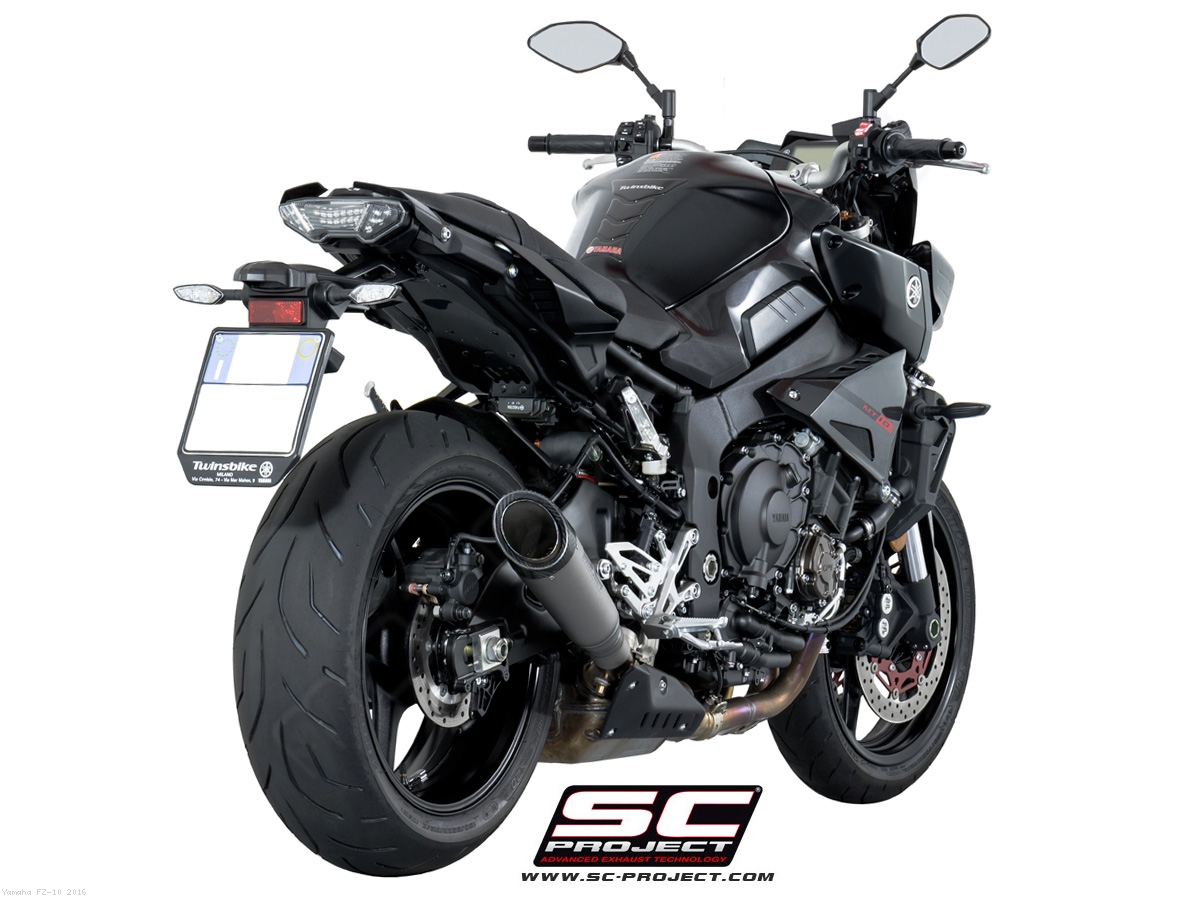 s1 exhaust by sc project yamaha fz 10 2016 y20 kt41t. Black Bedroom Furniture Sets. Home Design Ideas