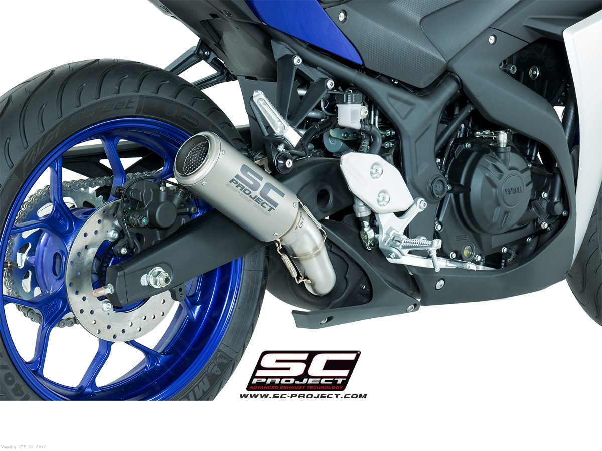 CR T Exhaust By SC Project Yamaha YZF R3 2017