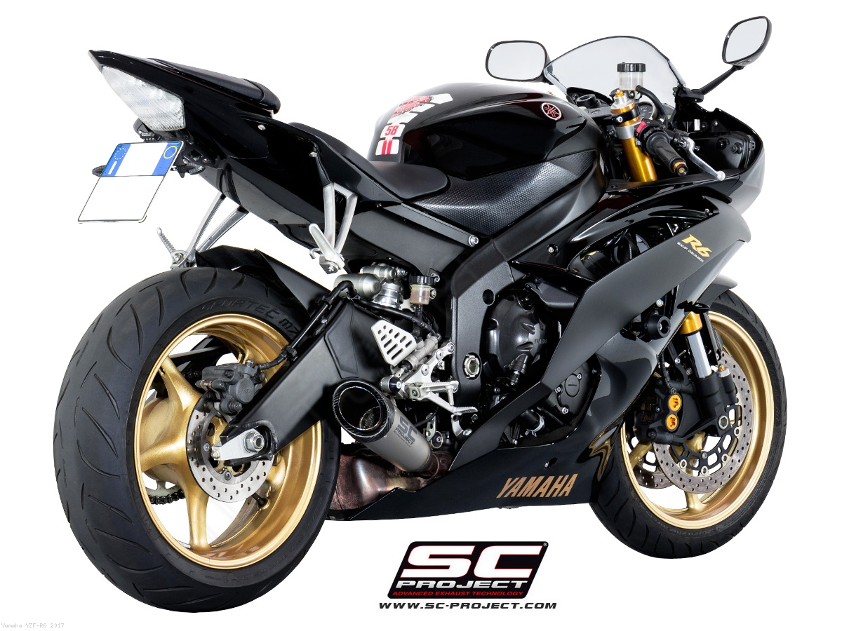 S1 Low Mount Exhaust By SC Project Yamaha YZF R6 2017